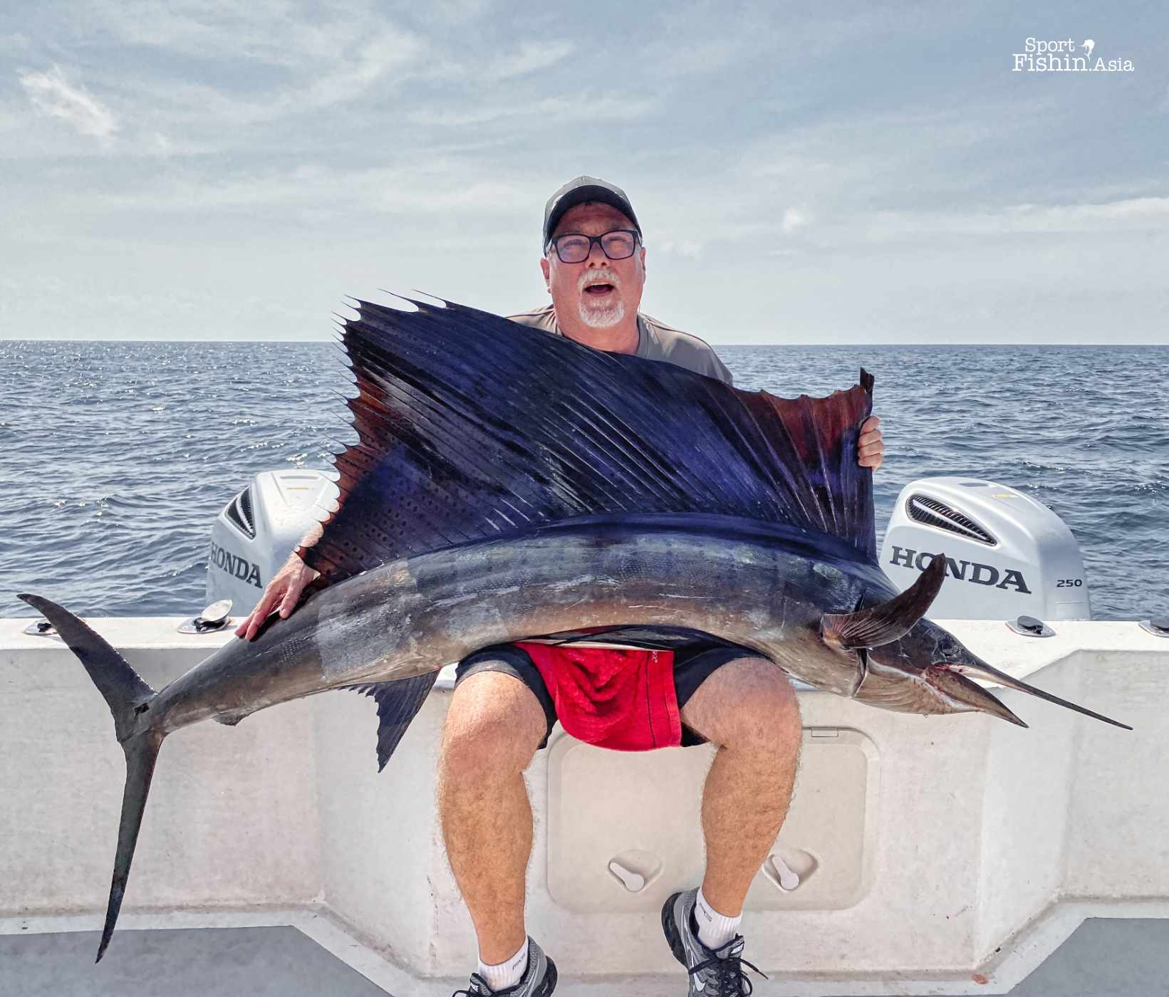 This big sailfish gave Brian a breathtaking experience - literally