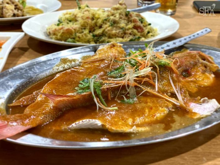 Nyonya style red snapper fish