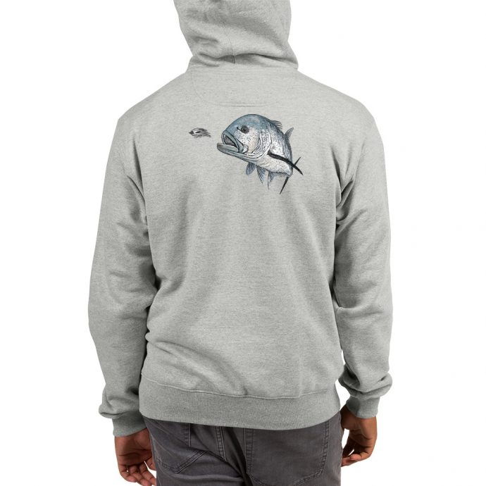 giant trevally fishing champion hoodie back