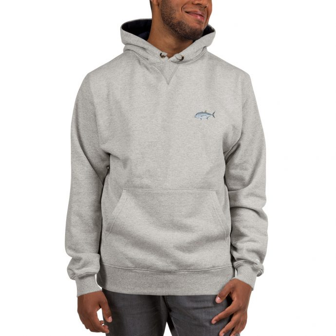 giant trevally fishing champion hoodie front