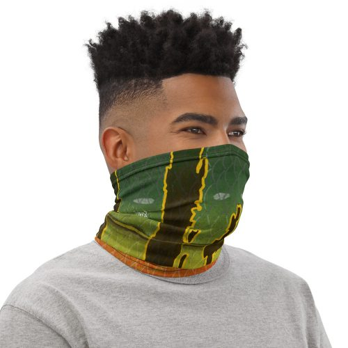 Peacock bass neck gaiter Right Mens White
