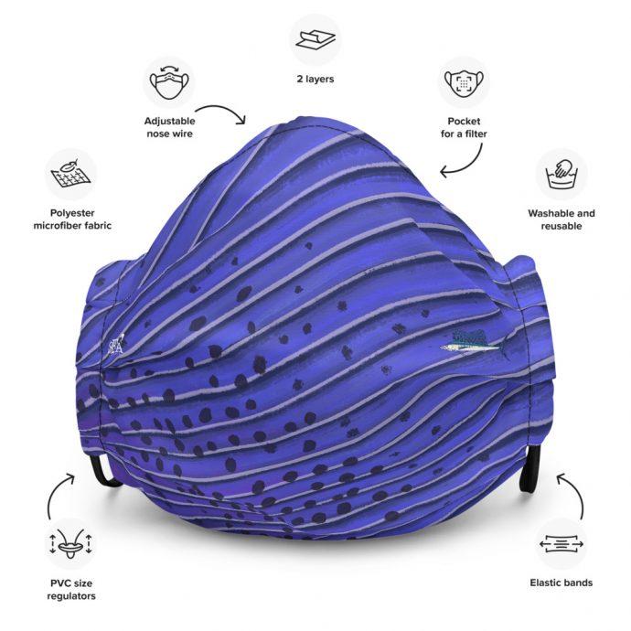 Sailfish art face mask Front Flat
