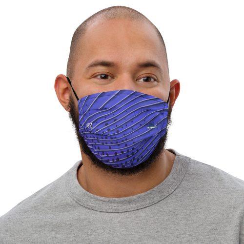 Sailfish art face mask Front Mens
