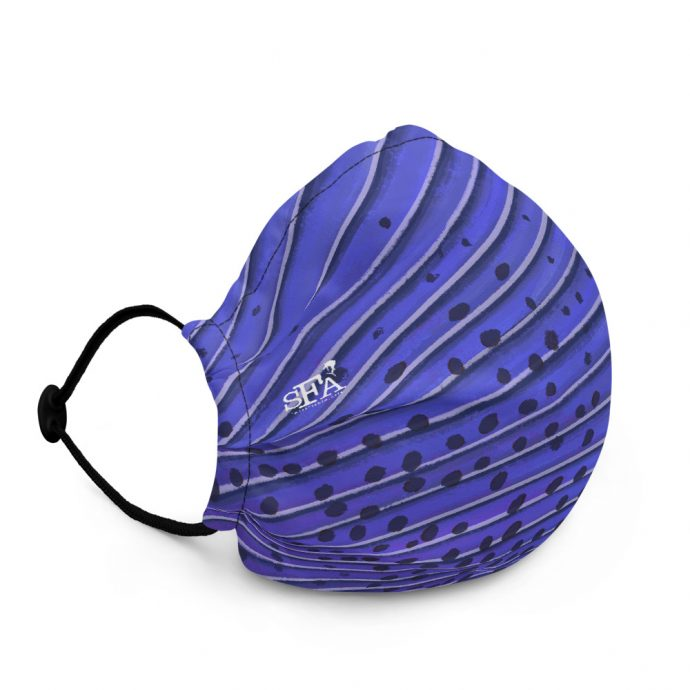 Sailfish art face mask Right Flat Black