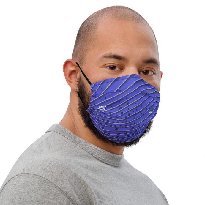 Sailfish art face mask Right Mens