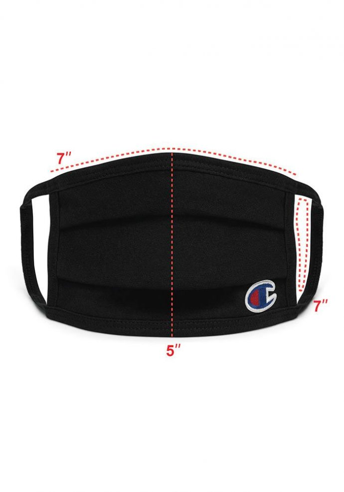 champion face mask front