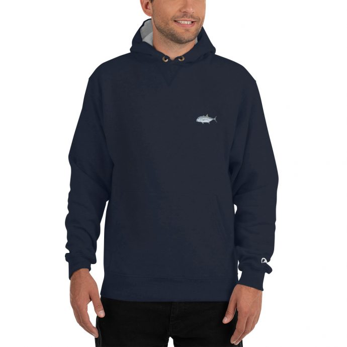 giant trevally champion hoodie model front