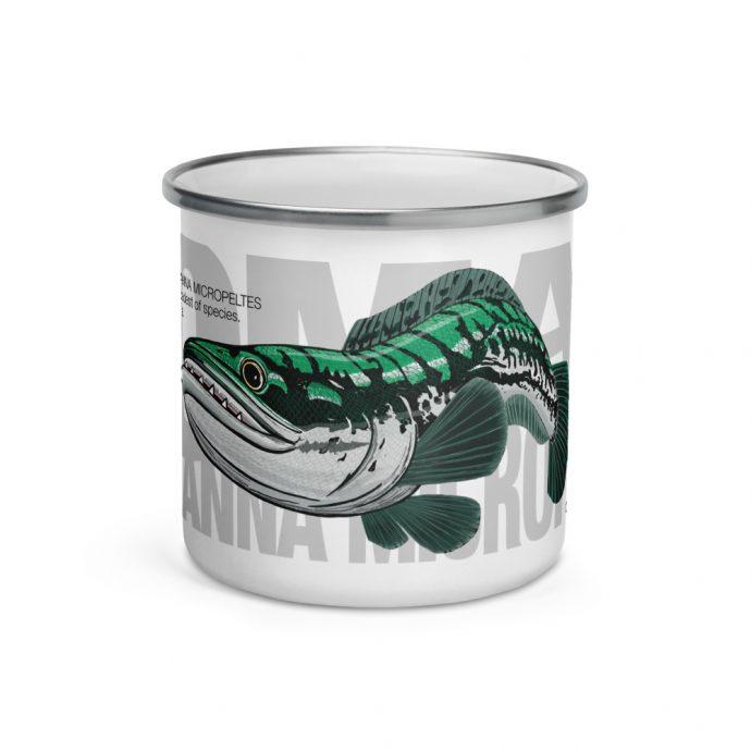 Toman giant snakehead enamel mug centre