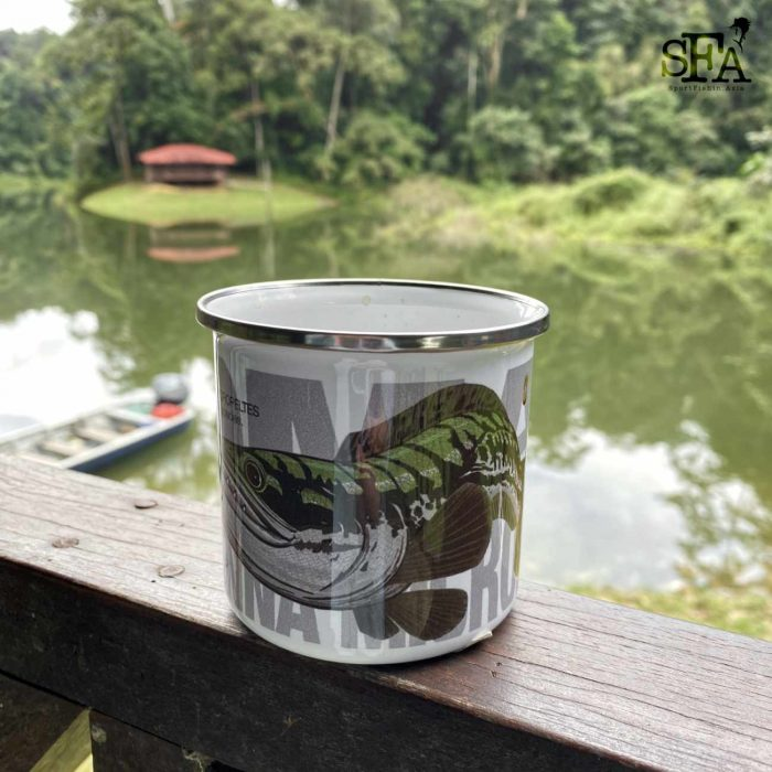 Lunch break spot with our special enamel mug